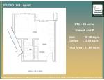 12 - Studio Unit Layout A and P - 28.90 Unit + 2.5 AC Ledge