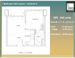 13 - 1 Bed Unit Layout - BCFGJKNO - 31.40 Unit + 2.5 AC Ledge