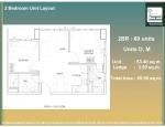 14 - 2 Bed Unit Layout D and M - 53.40 Unit + 2.50 AC Ledge