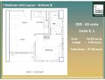 15 - 1 Bed Unit Layout - E and L - 34.90 Unit + 2.66 AC Ledge