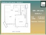 16 - 1 Bed Unit Layout - H and I - 31.40 Unit + 2.66 AC Ledge