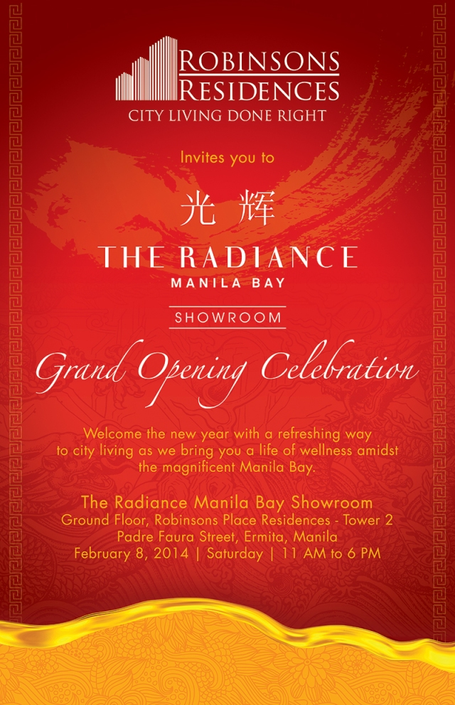 Radiance Manila Bay Showroom Grand Opening on 8 February 2014