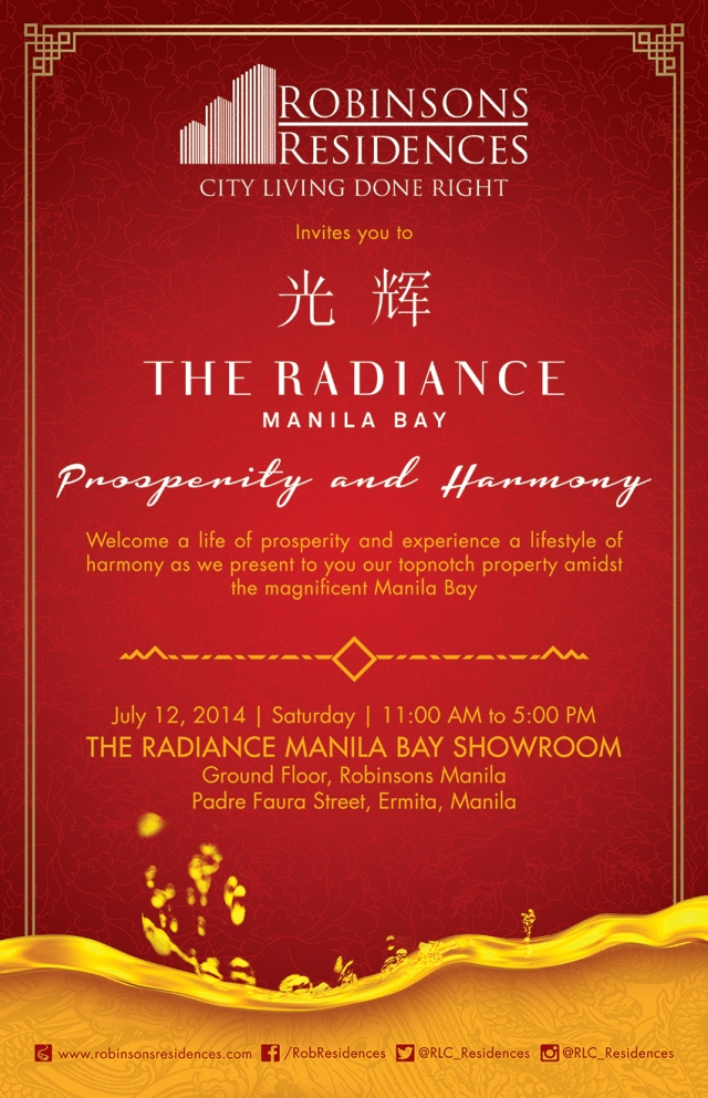 Radiance Manila Bay showroom - Prosperity and Harmony on 12 July 2014