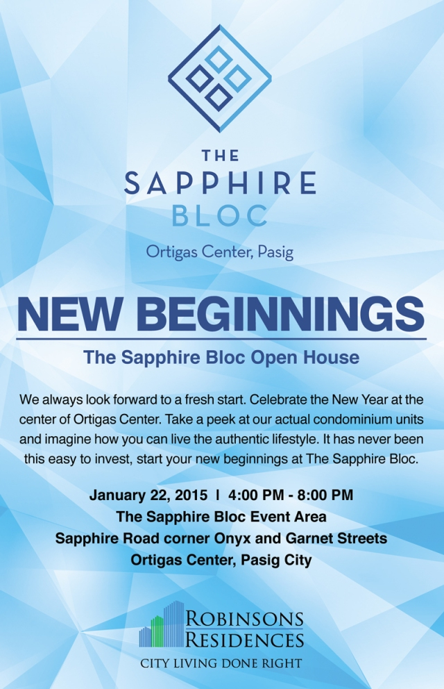 The Sapphire Bloc - New Beginnings - 22 Jan 2015