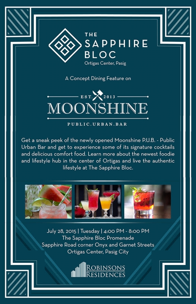 The MoonShine Pub - Opening Event on 28 July 2015 at The Sapphire Bloc