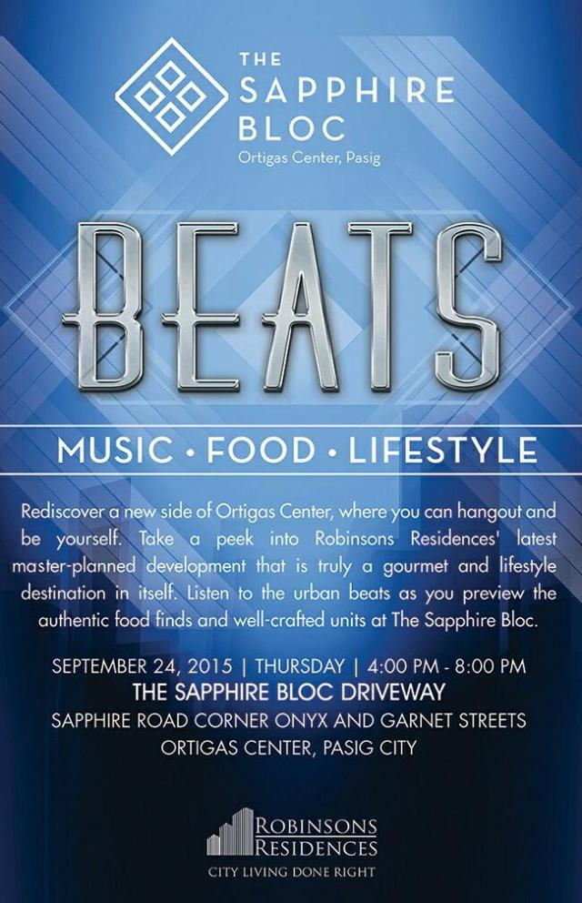 Beats - Music Food and Lifestyle Event at The Sapphire Bloc on 24 Sep 2015