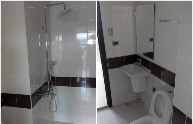 Magnolia Residences New Manila Condo Toilet with Caption